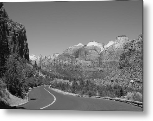 Mountains Metal Print featuring the photograph Road To Zion by Kimberly Oegerle