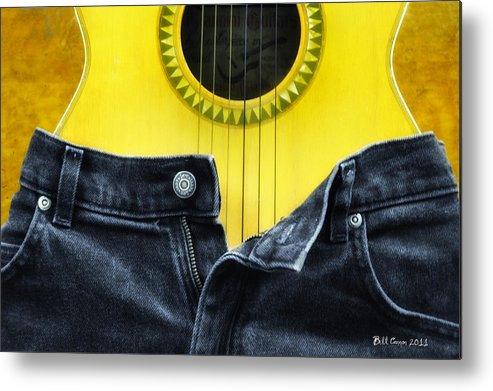 Guitar Metal Print featuring the photograph Rock And Roll Woman by Bill Cannon