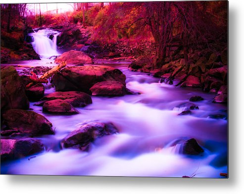 Landscape Metal Print featuring the photograph Rockaway River 4 by Arthur Sa