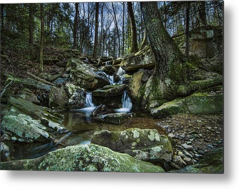 Waterfall Metal Print featuring the photograph Rocky Branch by Barry Cole