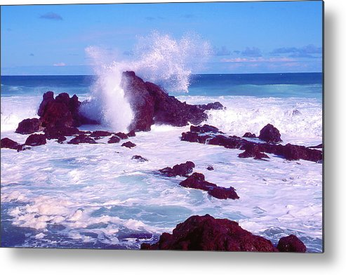 Ocean Metal Print featuring the photograph Rogue Wave by Dena Baker