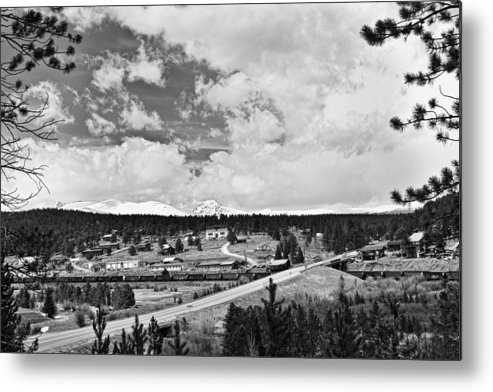 Rollinsville Is A Census-designated Place And A U.s. Post Office Located In Gilpin County Metal Print featuring the photograph Rollinsville Colorado Small Town 181 In Black And White by James BO Insogna