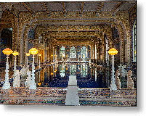 Hearst Metal Print featuring the photograph Roman Pool At Hearst Castle by Carol M Highsmith