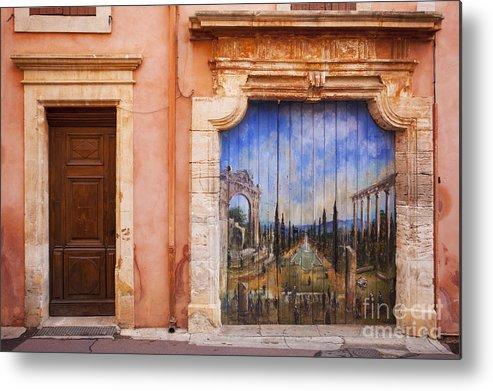 Art Metal Print featuring the photograph Roussillon Door by Brian Jannsen