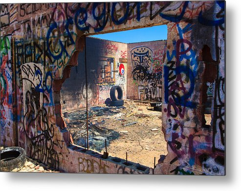 Amboy California Metal Print featuring the photograph Route 66 Burnout by James Marvin Phelps