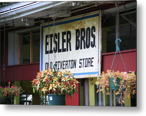66 Metal Print featuring the photograph Route 66 - Eisler Brothers Old Riverton Store by Frank Romeo