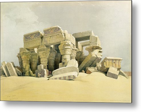 Columns Metal Print featuring the painting Ruins Of The Temple Of Kom Ombo by David Roberts