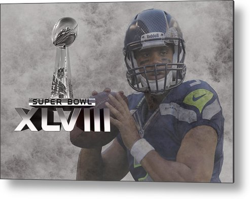 Russell Wilson Metal Print featuring the photograph Russell Wilson by Joe Hamilton