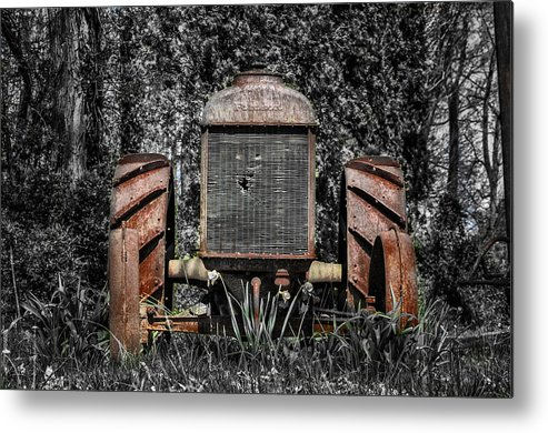 Rusted Metal Print featuring the photograph Rusted Old Tractor by Bill Cannon
