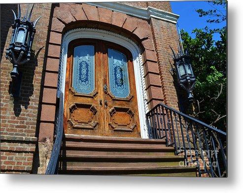 Charleston Door Metal Print featuring the photograph Rustic Wood Charleston Door by Amy Lucid