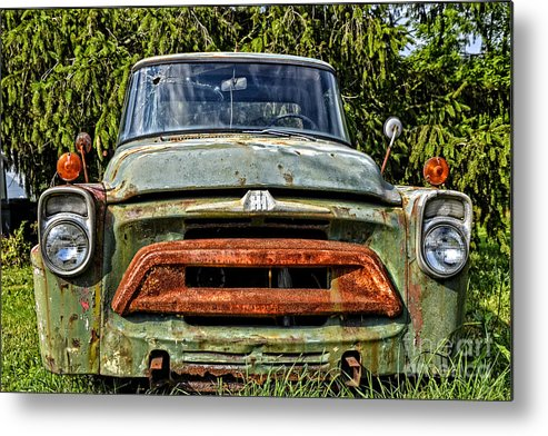 Old Cars Rusty Cars Metal Print featuring the photograph Rusty Lip by Zbigniew Krol