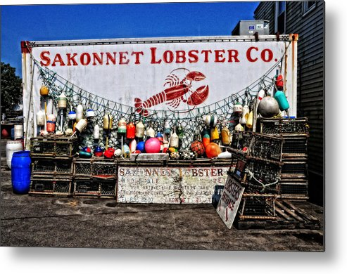 Seascape Metal Print featuring the photograph Sakonnet Lobster Co. by Mike Martin