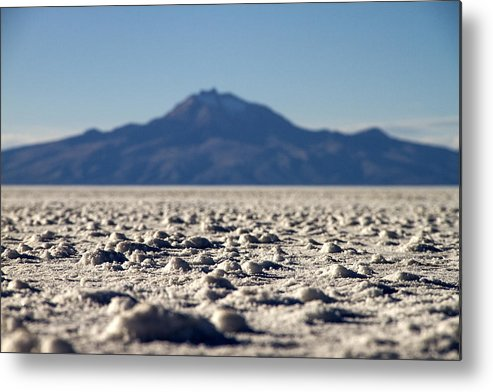 Harvest Metal Print featuring the photograph Salt Flat Surface by For Ninety One Days