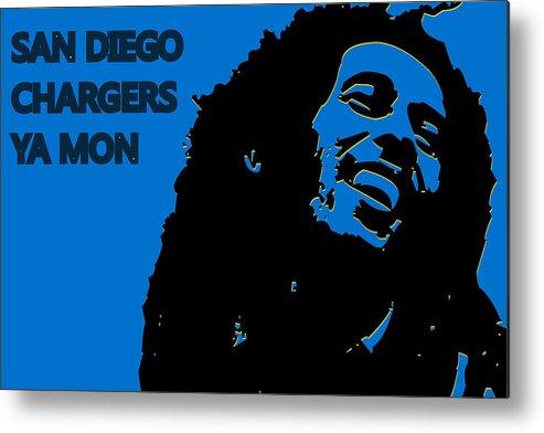San Diego Chargers Ya Mon Metal Print By Joe Hamilton