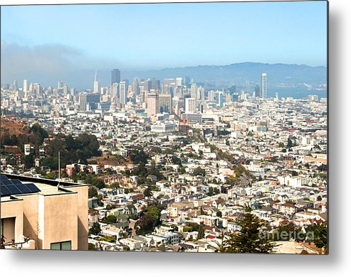 Metal Print featuring the photograph San Francisco City Vista by Artist and Photographer Laura Wrede