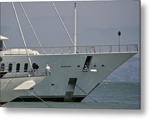 San Francisco Metal Print featuring the photograph San Francisco Yachting by Steven Lapkin