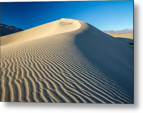Death Valley Metal Print featuring the photograph Sand Dunes Wind Erosion by Pierre Leclerc Photography