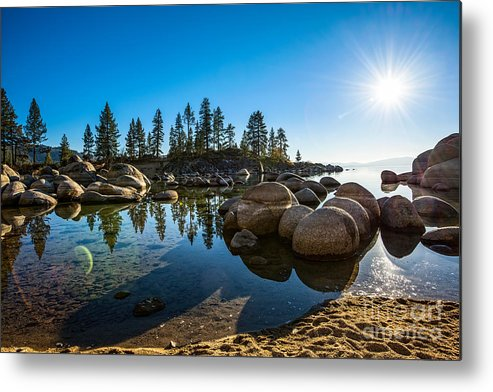 Sand Harbor Metal Print featuring the photograph Sand Harbor Star by Jamie Pham