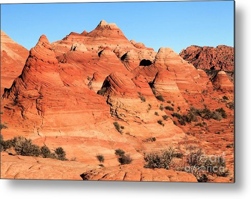 The Wave Metal Print featuring the photograph Sandstone Amphitheater by Adam Jewell