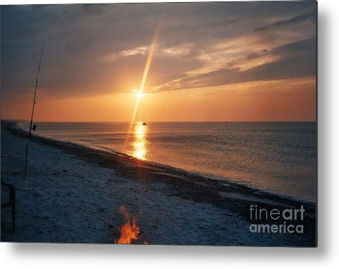 Sandy Neck Beach Metal Print featuring the tapestry - textile Sandy Neck Beach Sunset by Lisa Marie Germaine