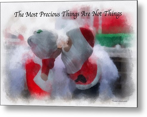 Christmas Metal Print featuring the photograph Santa The Most Precious Photo Art by Thomas Woolworth