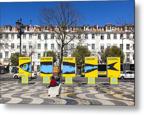 Ancient Metal Print featuring the photograph Sardine Outdoors At Rossio Square by Andre Goncalves