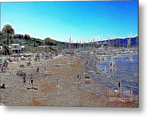 Sausalito Metal Print featuring the photograph Sausalito Beach Sausalito California 5d22696 Artwork by Wingsdomain Art and Photography