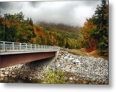Crawford Notch Metal Print featuring the photograph Scenic New Hampshire Drive by George Oze