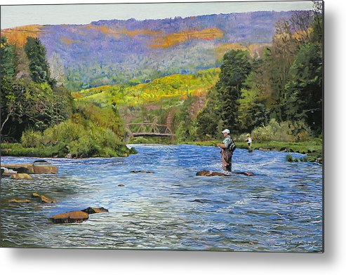 Schoharie Creek Metal Print featuring the painting Schoharie Creek by Kenneth Young