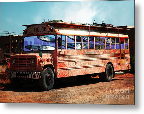 Wingsdomain Metal Print featuring the photograph School Bus 5d24927 by Wingsdomain Art and Photography