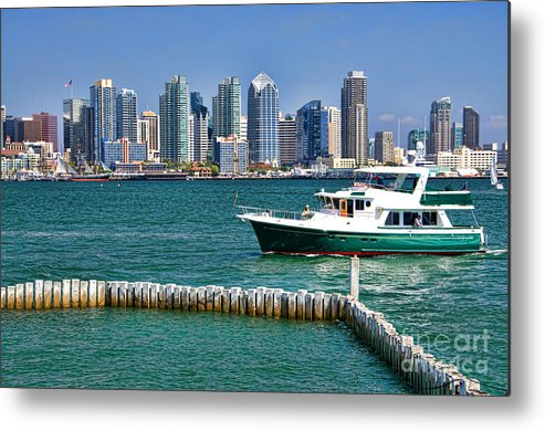 Boats Metal Print featuring the photograph Sd Bay by Keith Ducker