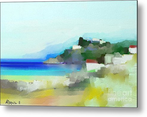Seaside Metal Print featuring the painting Seaside 3 by Alexis