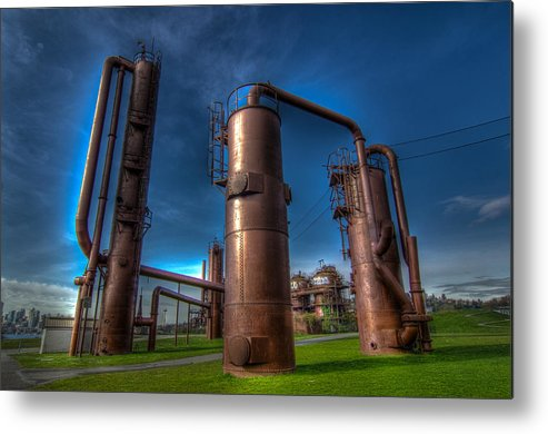 2012 Metal Print featuring the photograph Seattle Gas Works Park by Puget Exposure