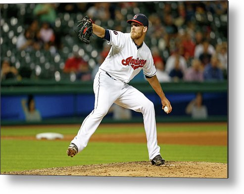 American League Baseball Metal Print featuring the photograph Seattle Mariners V Cleveland Indians by Kirk Irwin