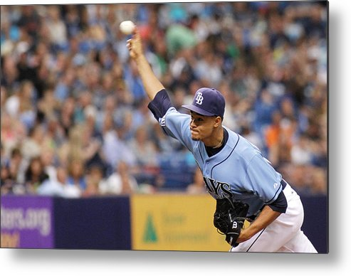American League Baseball Metal Print featuring the photograph Seattle Mariners V Tampa Bay Rays by Brian Blanco