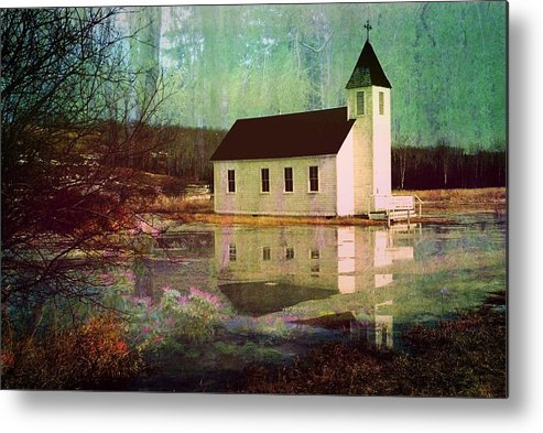 Church Metal Print featuring the photograph Secluded Sanctum by Shirley Sirois