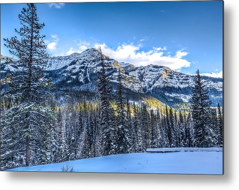 Mountains Metal Print featuring the photograph Setting Sun In The Ne Yellowstone by Thomas Szajner