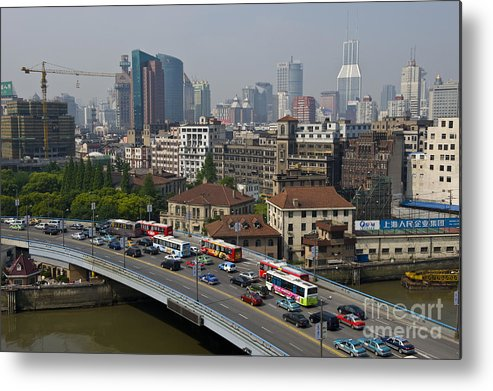 Asia Metal Print featuring the photograph Shanghai, China by John Shaw
