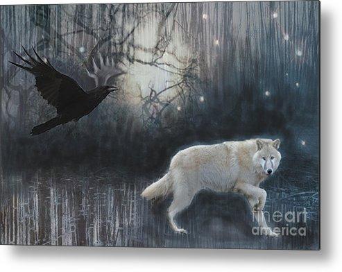 Wolf Metal Print featuring the digital art Shape Shifter by Maureen Tillman
