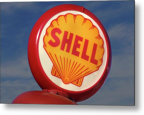 Shell Metal Print featuring the photograph Shell Globe by Mike McGlothlen