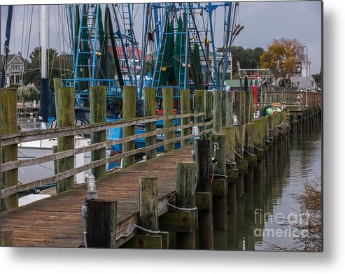 Shem Cree Metal Print featuring the photograph Shem Creek Wharf by Dale Powell