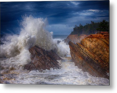 Storm Metal Print featuring the photograph Shore Acre Storm by Darren White