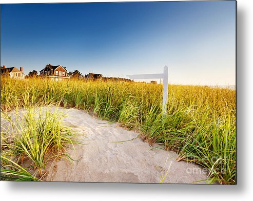 Path Metal Print featuring the photograph Signpost On Path by Jo Ann Snover