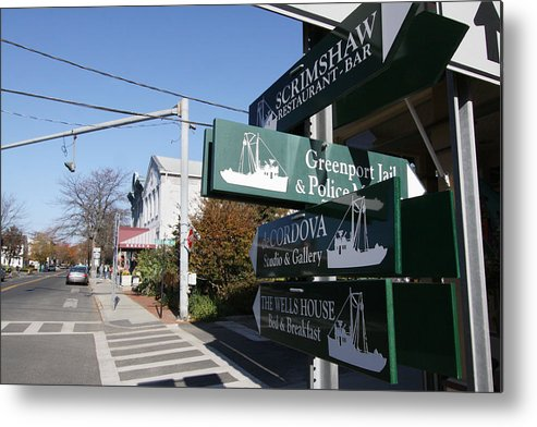 Signs Metal Print featuring the photograph Signs Greenport New York by Bob Savage