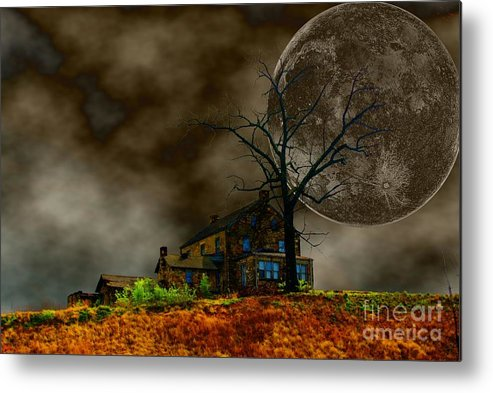 Eerie Metal Print featuring the photograph Silent Hill 2 by Dan Stone