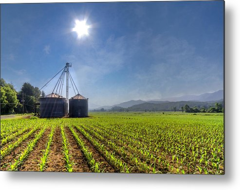 Andrews Metal Print featuring the photograph Silos by Debra and Dave Vanderlaan