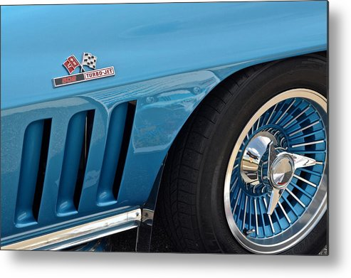 Corvette Metal Print featuring the photograph Sixty Six Corvette Roadster by Frozen in Time Fine Art Photography