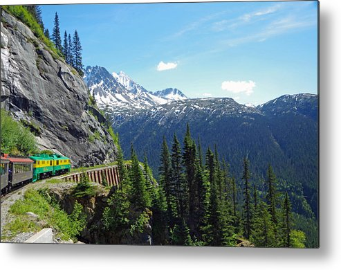 Railroad Metal Print featuring the photograph Skagway 11 by Harvey Dalley