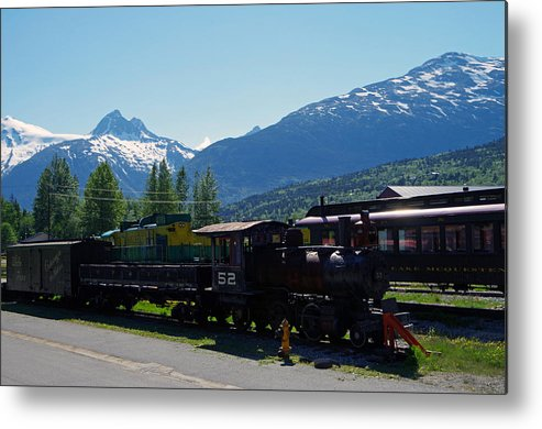 Railroad Metal Print featuring the photograph Skagway 4 by Harvey Dalley