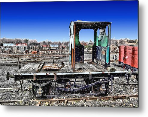 Trains Metal Print featuring the photograph Skeleton 1 by John Lynch